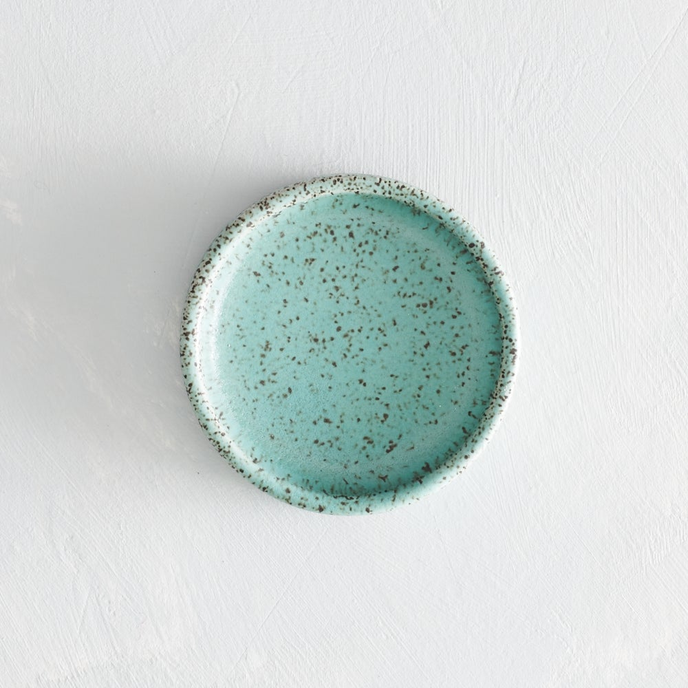 Image of seafoam speckled salt dish 2