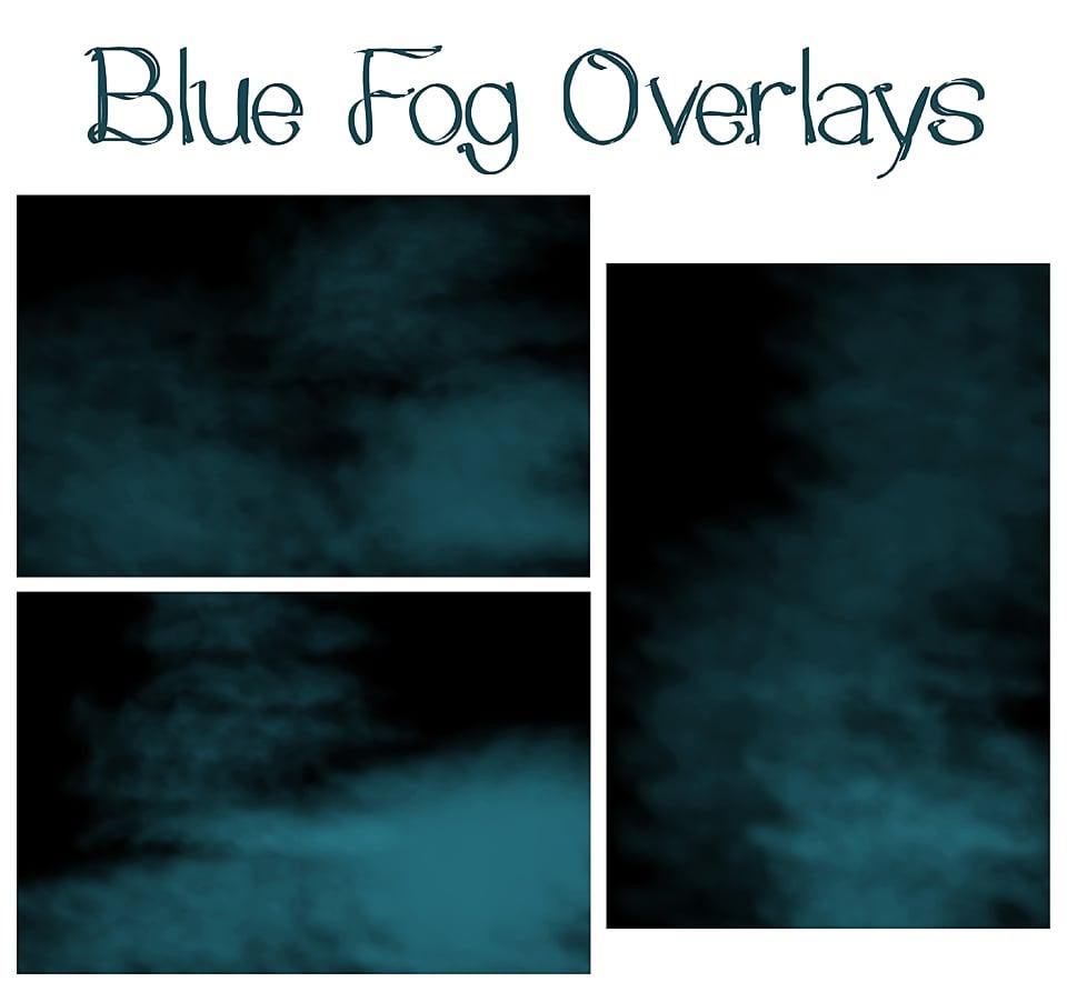 Image of Blue Fog Overlays