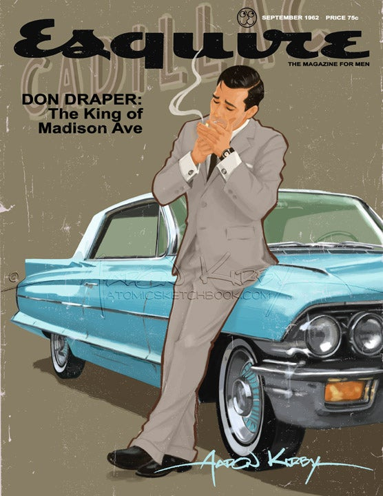 Image of Don Draper in Esquire magazine print