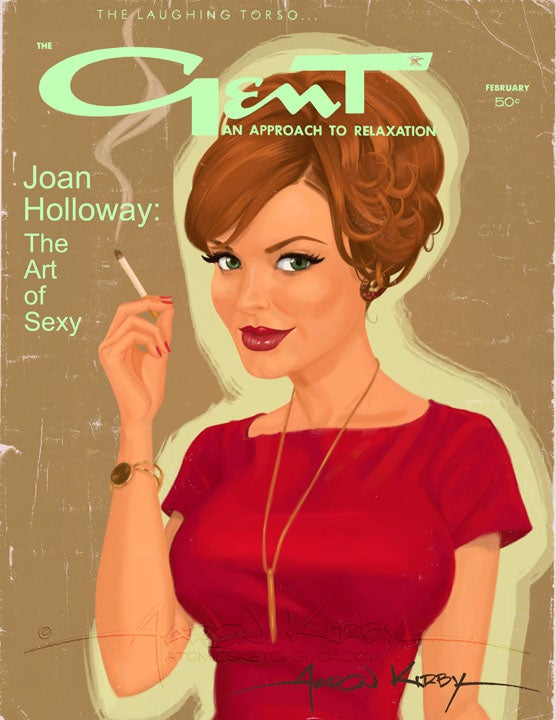 Image of Joan Holloway in Gent magazine print