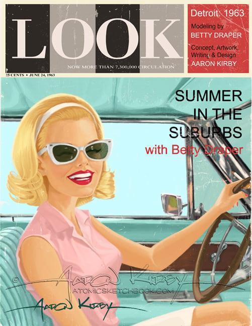 Image of Betty Draper in Look magazine print
