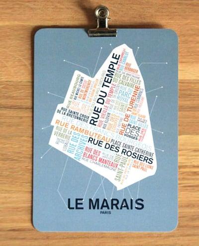 Image of CARTE POSTALE LE MARAIS