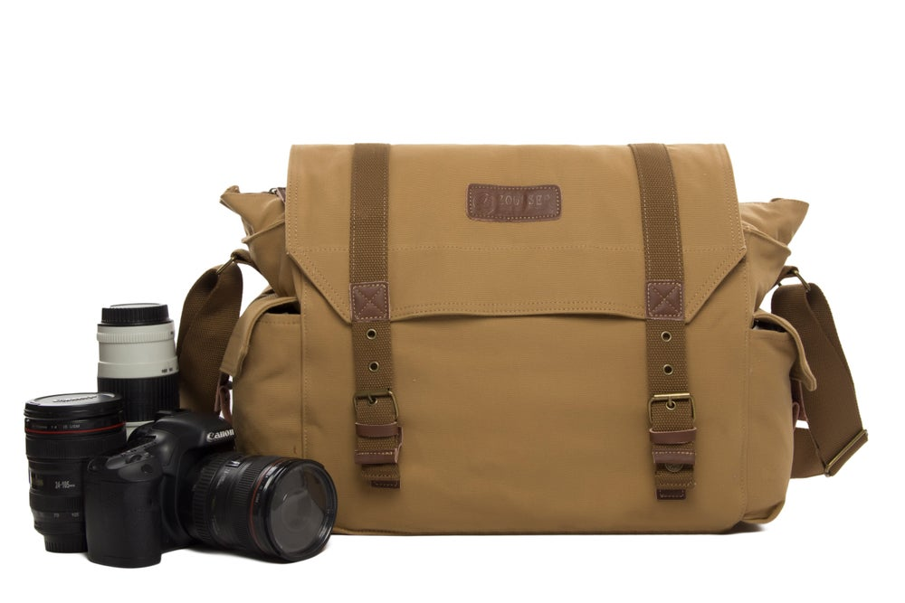 e62c4ba86e1 On Sale. Image of Fashion Yellow Canvas Camera Bags Camera DSLR Bag Laptop Camera  Bag F1005 ...