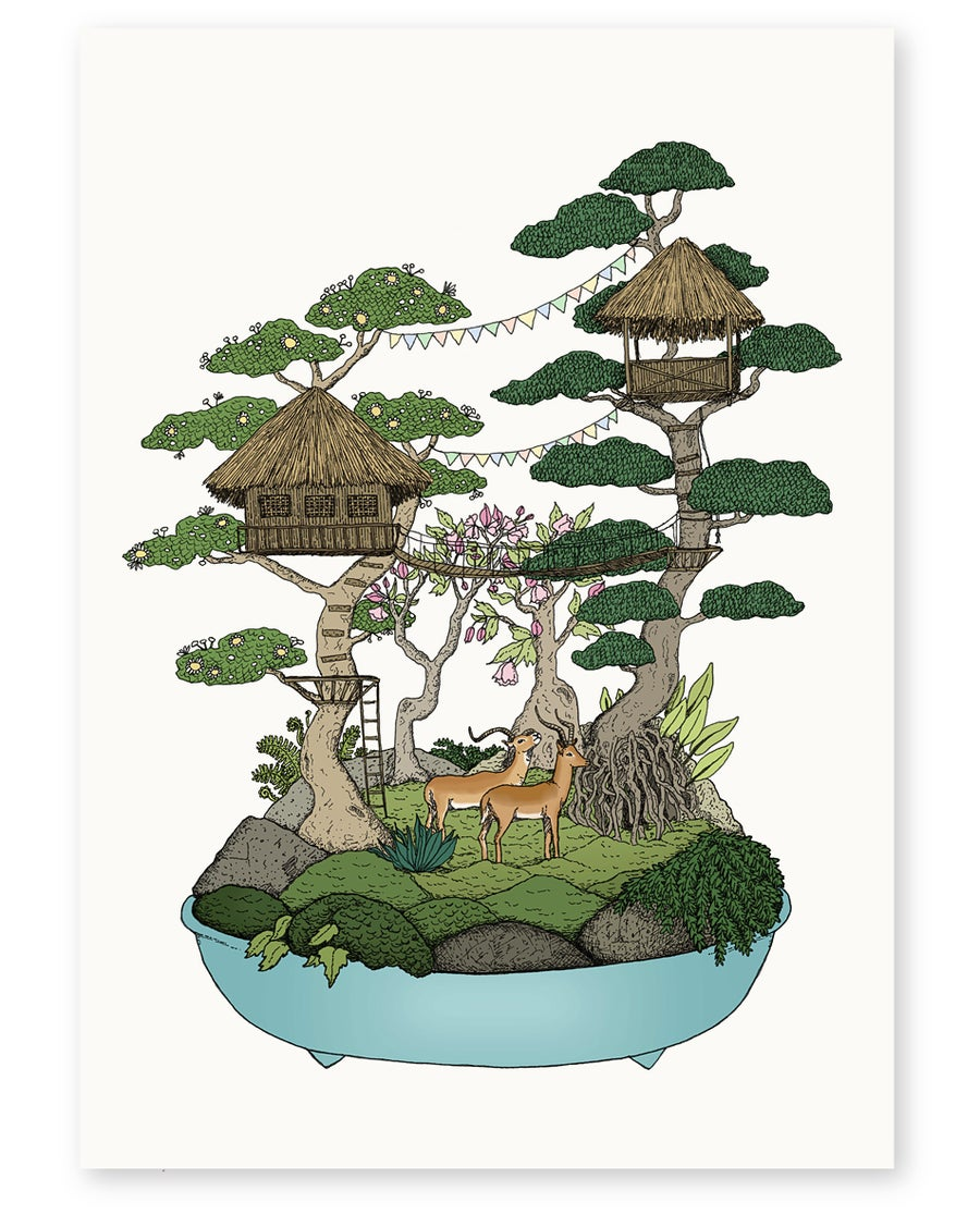 Image of 'Swiss Family Robinson Treehouse' Limited Edition Art Print