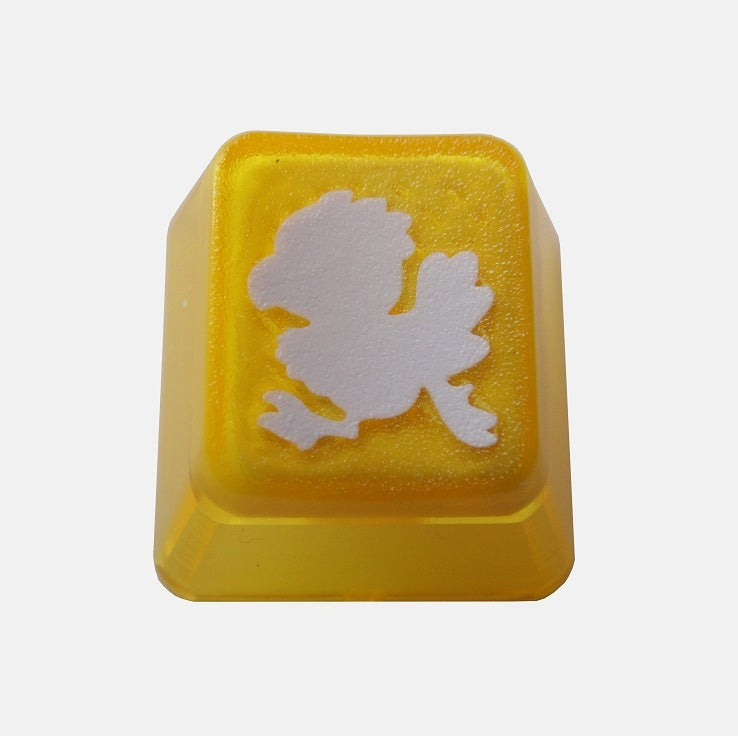 Image of Translucent Yellow Chickobo Keycap