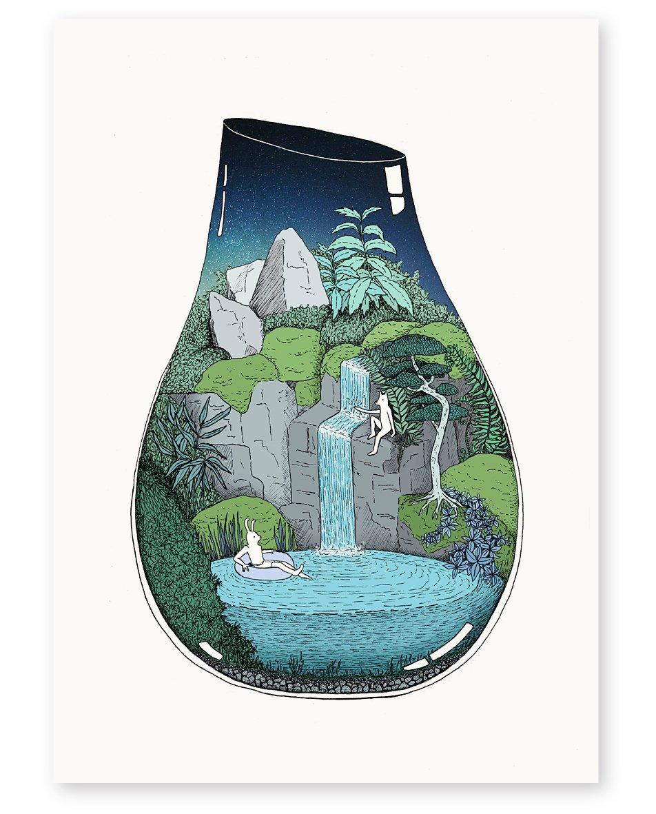 Image of 'Night Swim' Limited Edition Art Print