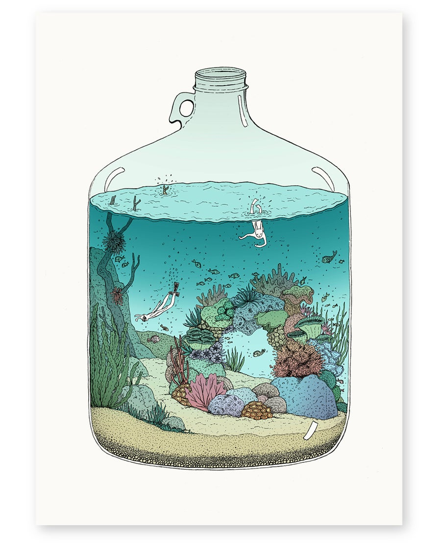 Image of 'Deep Sea Diving' Limited Edition Art Print