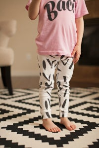 Image of ORGANIC COTTON Abstract CUFFED LEGGINGS