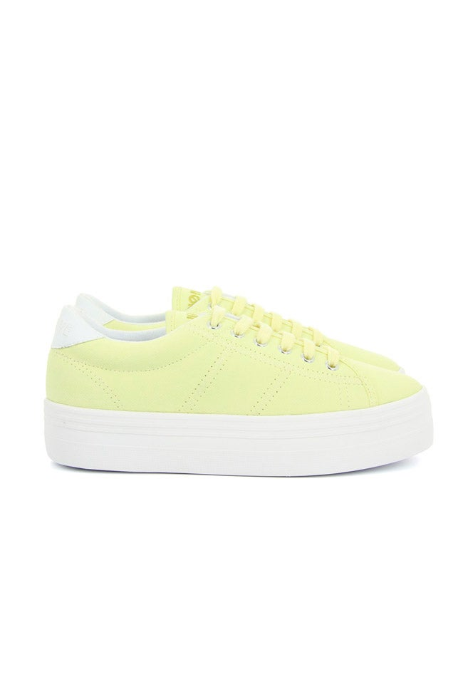 Image of YELLOW FLATFORM SNEAKER