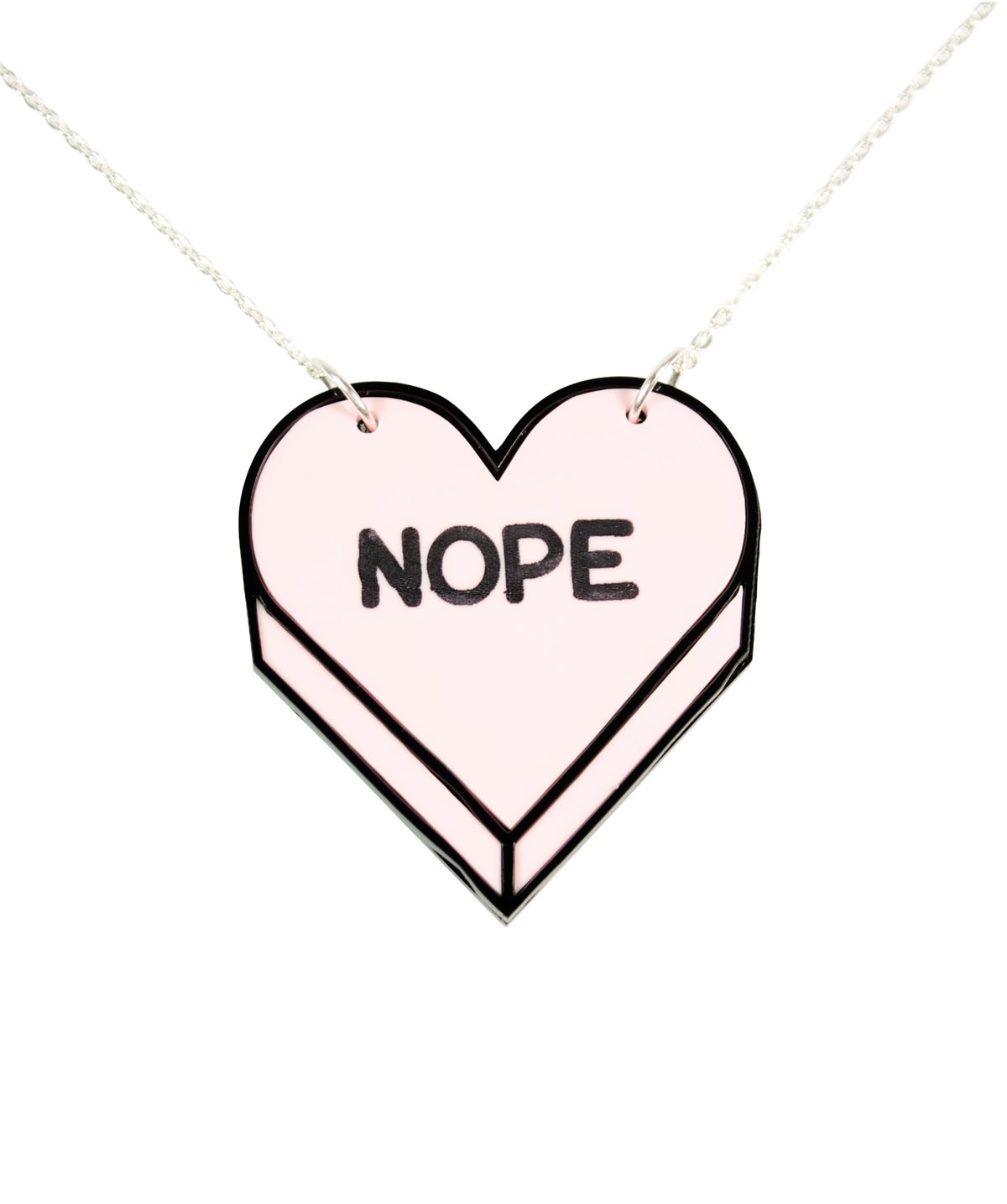 """Image of """"NOPE"""" Candy Heart Necklace"""