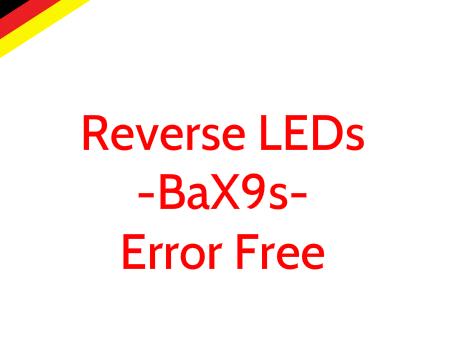 Image of BaX9s Error Free Reverse LEDs fits: 2015 Audi A3
