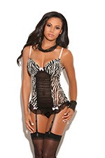 Image of mesh bustier