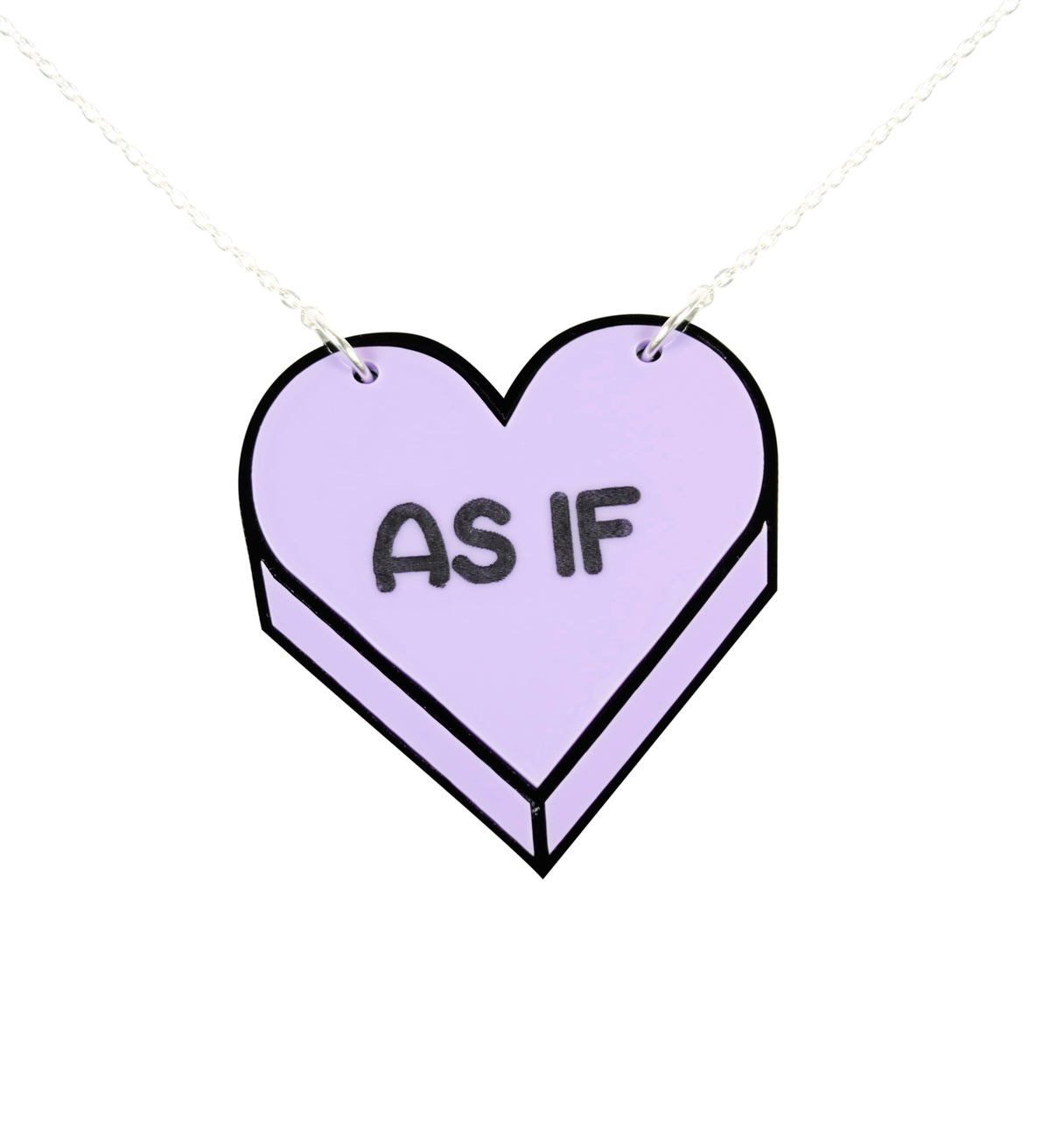 "Image of ""AS IF"" Candy Heart Necklace"
