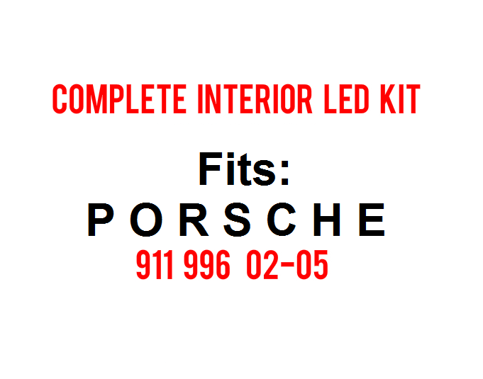 Image of Complete Interior LED Kit Fits: Porsche 911 996 02-05