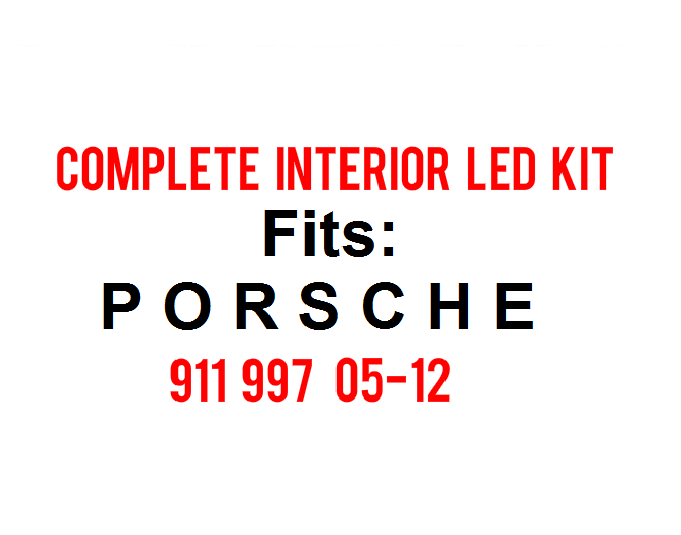 Image of Complete Interior LED Kit Fits: Porsche 997 911 05-12