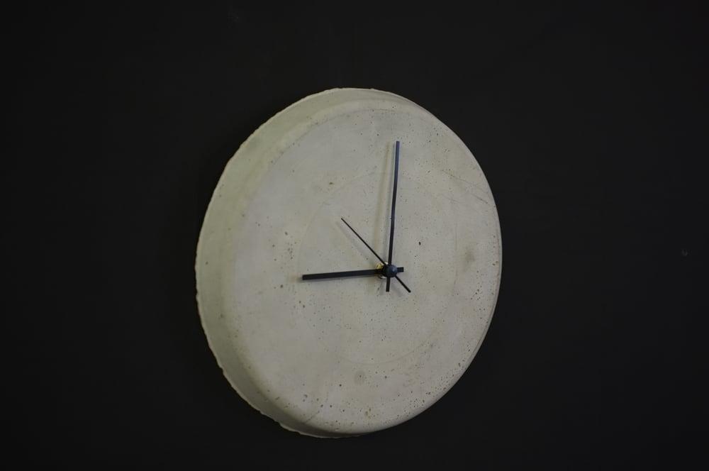 Image of Cast Concrete Industrial Clock.