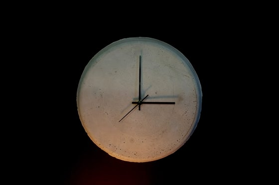 Image of Cast Concrete Industrial Clock.