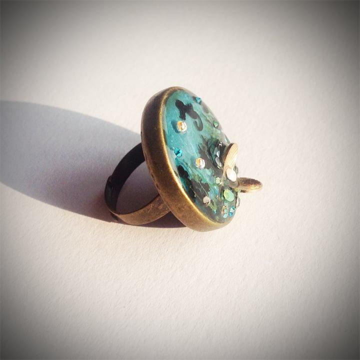 Rock Pool Bronze Ring