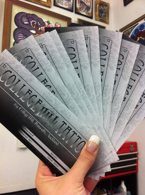 Image of College Hill Tattoo Vouchers