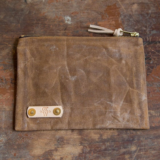 Image of Waxed Canvas Field Notes Pouch