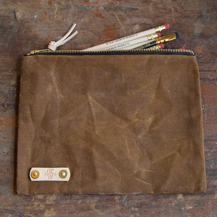 Image of Waxed Canvas Large Pencil Pouch