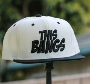 Image of This Bangs Logo SnapBack 2 Tone (White & Black)