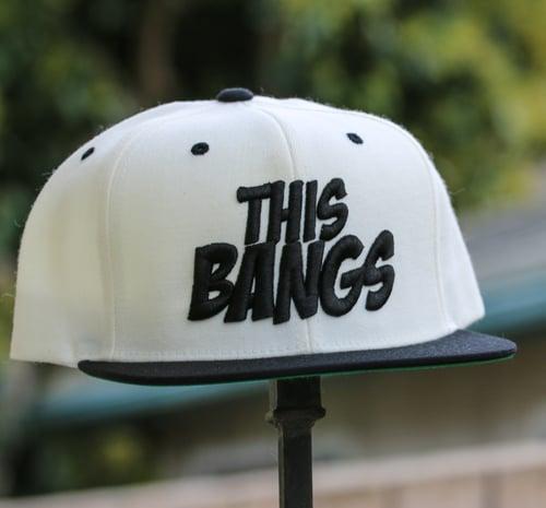 Image of This Bangs Logo SnapBack 2 Tone (White & Black)