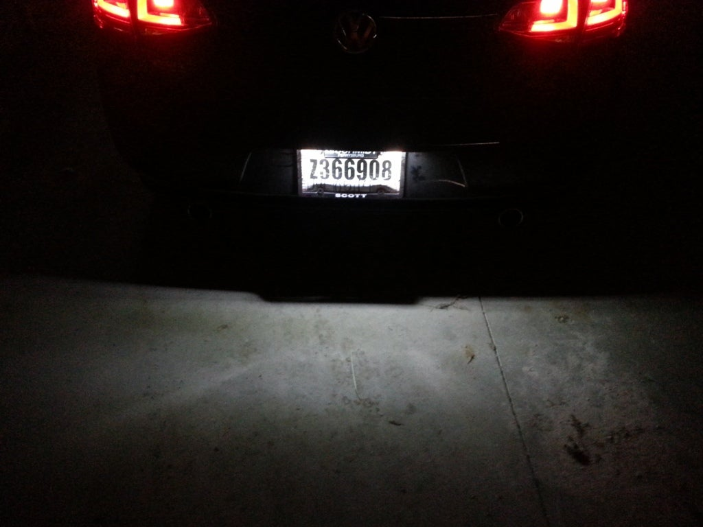 Image of License Plate LED Complete Housing [Error Free-Plug & Play] Fits: MKVII 2015+ Volkswagen GTI / Golf