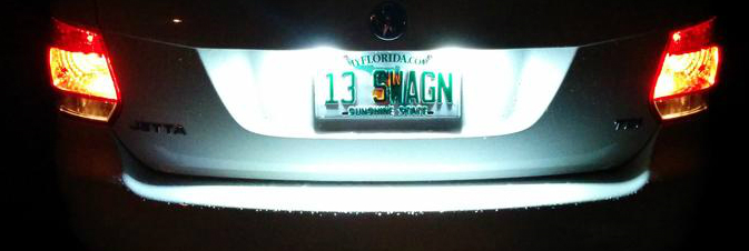 Image of License Plate Housings Error Free / Bright White  Fits: VW Jetta Sportwagen