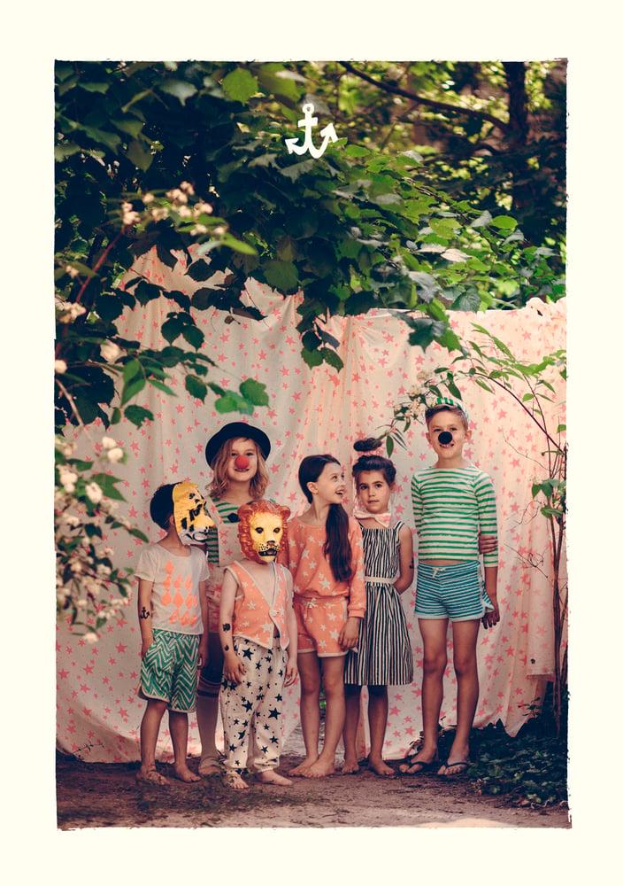 Image of SS15 <> Marinière bébé garçon Noé&Zoé à rayures vertes <> 18M-10A
