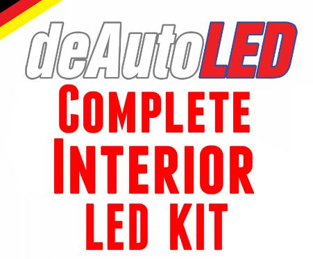 Image of Complete Interior LED Kit [Crisp White / Error Free] fits: Audi A3 2003+