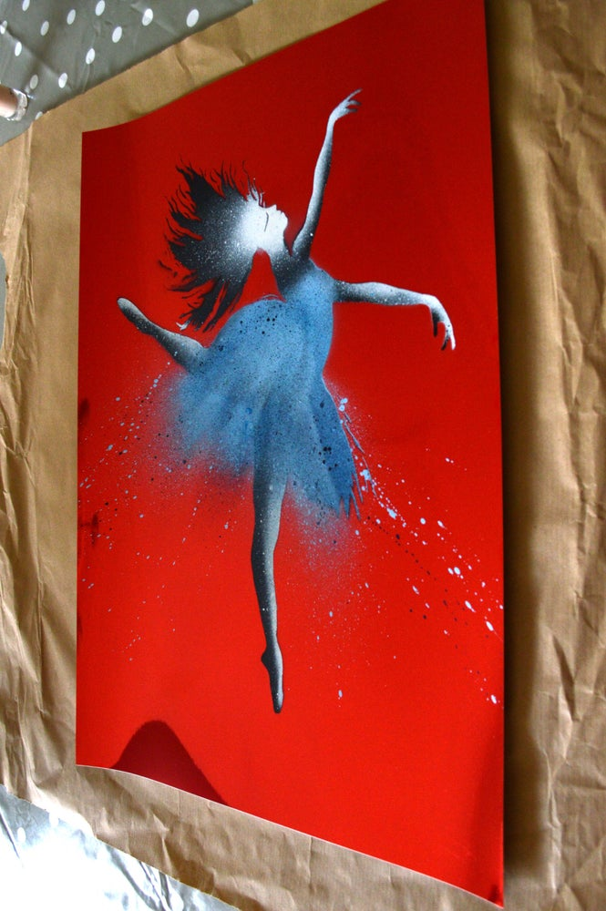 "Image of ""The Ballerina"" Shiny Red Paper Edition"