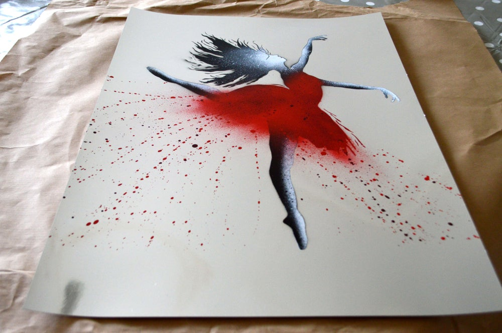 "Image of ""The Ballerina"" Shiny Silver Paper Edition"