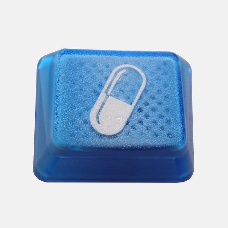 Image of 1.25x Translucent Blue Pill Keycap