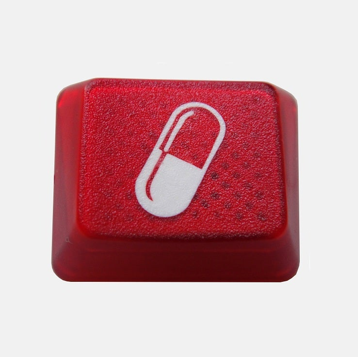 Image of 1.25x Translucent Red Pill Keycap