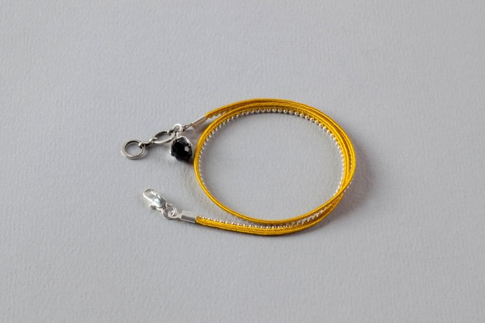 Image of bracelet deux tours jaune argent