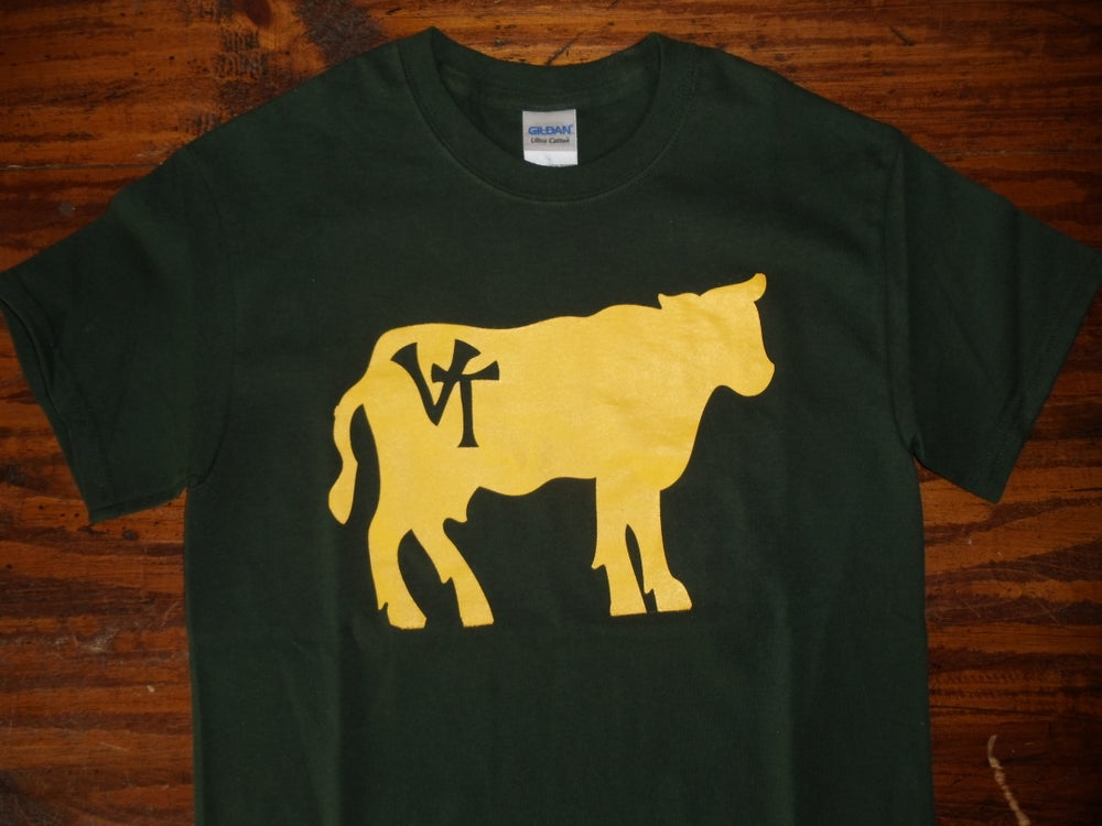 Image of Vermont Cow Shirt - Vermont T-Shirt - vermont clothing - vermont clothes - 802 clothing - 802 shop