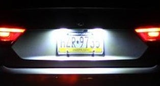Image of License Plate Bulbs With Resistors - Error Free fits: Passat B7