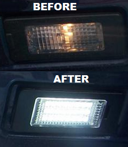 Image of Complete LED License Plate Housing - Plug and Play - Error Free fits: Passat B7