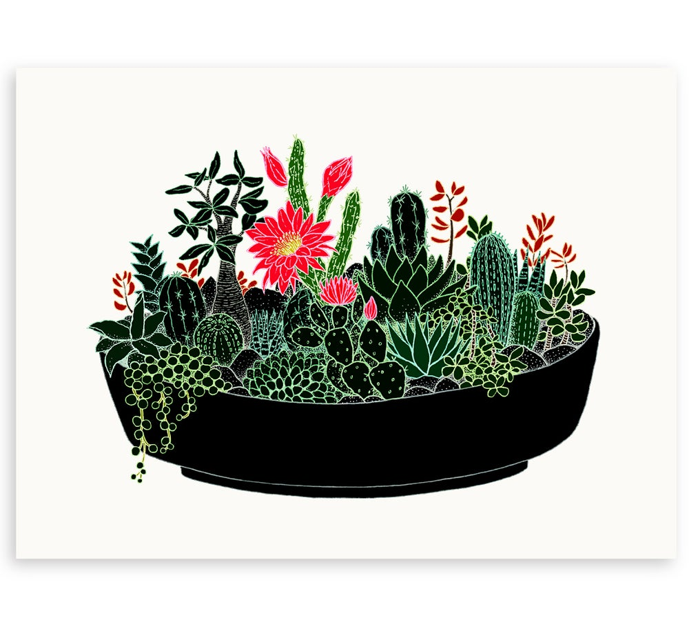Image of 'Black Cactus' Limited Edition Art Print