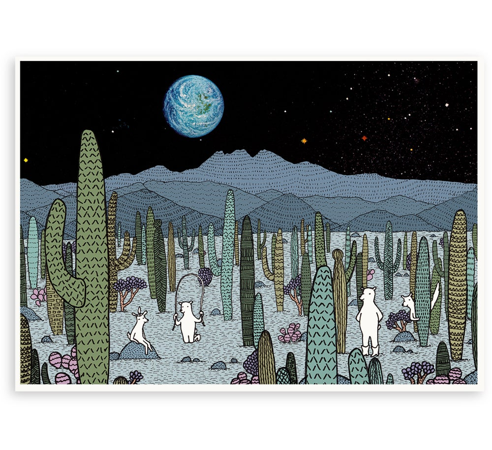 Image of 'Desert Moon' Limited Edition Art Print