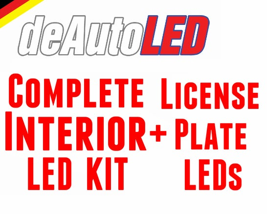Image of 13pc Complete Interior / License Plate LED Kit ERROR FREE Fits: Volkswagen MK5 Jetta all models