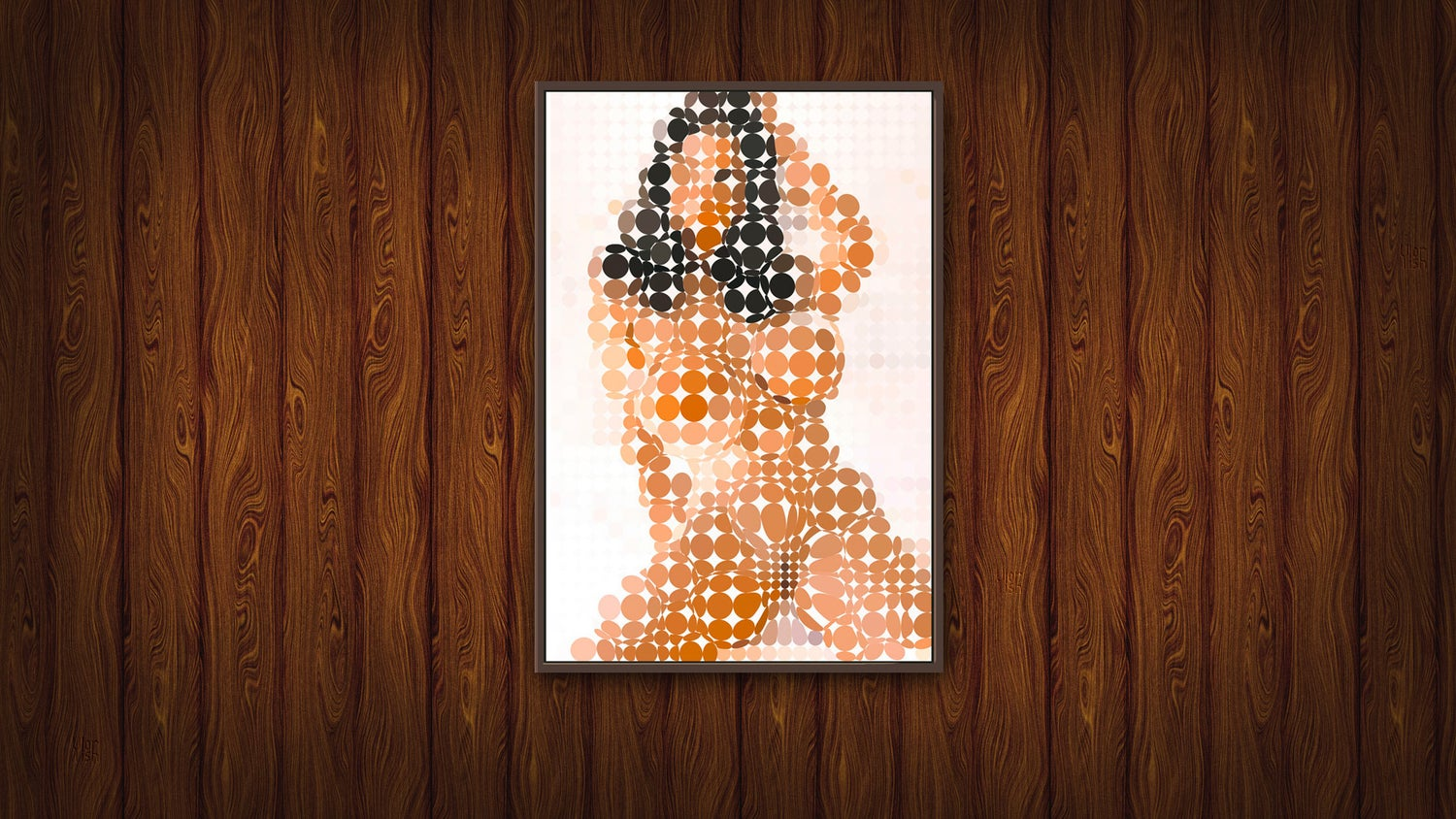 Image of Squint Abstract Nude Print - 3