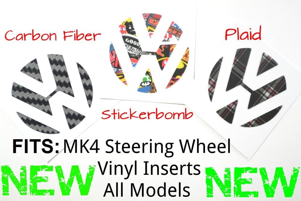 Image of Steering Wheel Vinyl Insert for MK4 Jetta/Bora/Golf/GTI All Models!