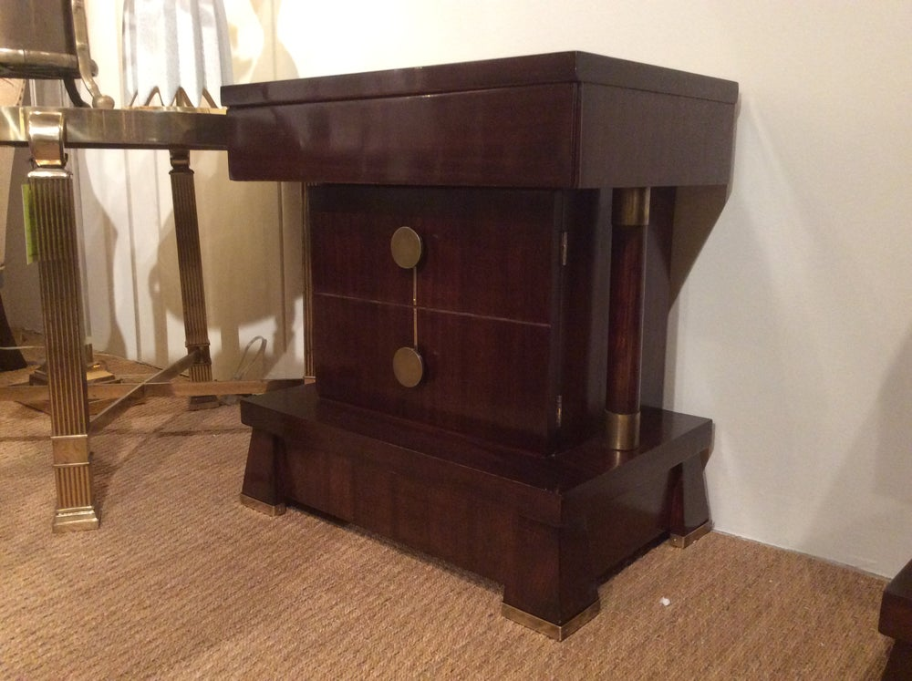 Image of Pair of Mahogany Nightstands