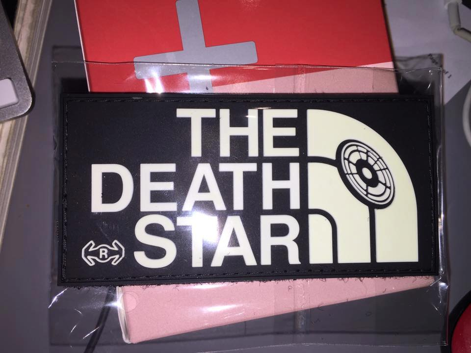 Image of THE DEATH STAR RUBBER PVC Patch w/VELCRO Glow N Dark