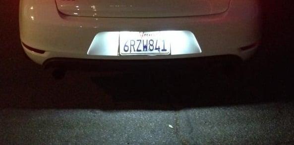 Image of Universal License Plate LED Housings For Volkswagen Golf GTi CC Rabbit Eos Beetle Phaeton Passat