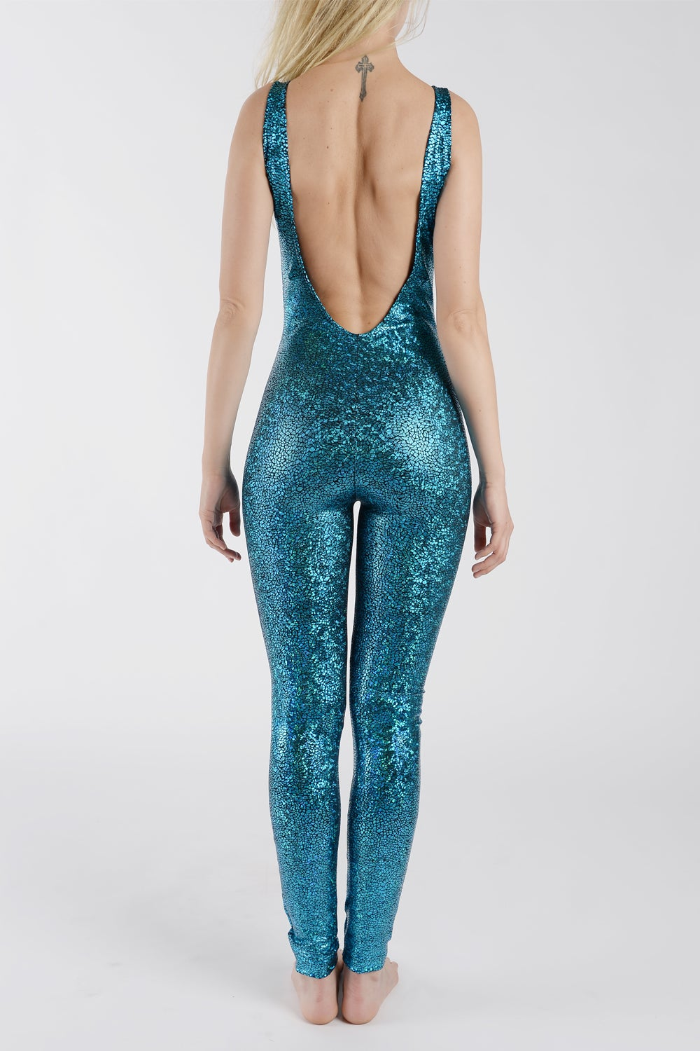 Image of Turquoise Disco Mermaid Catsuit