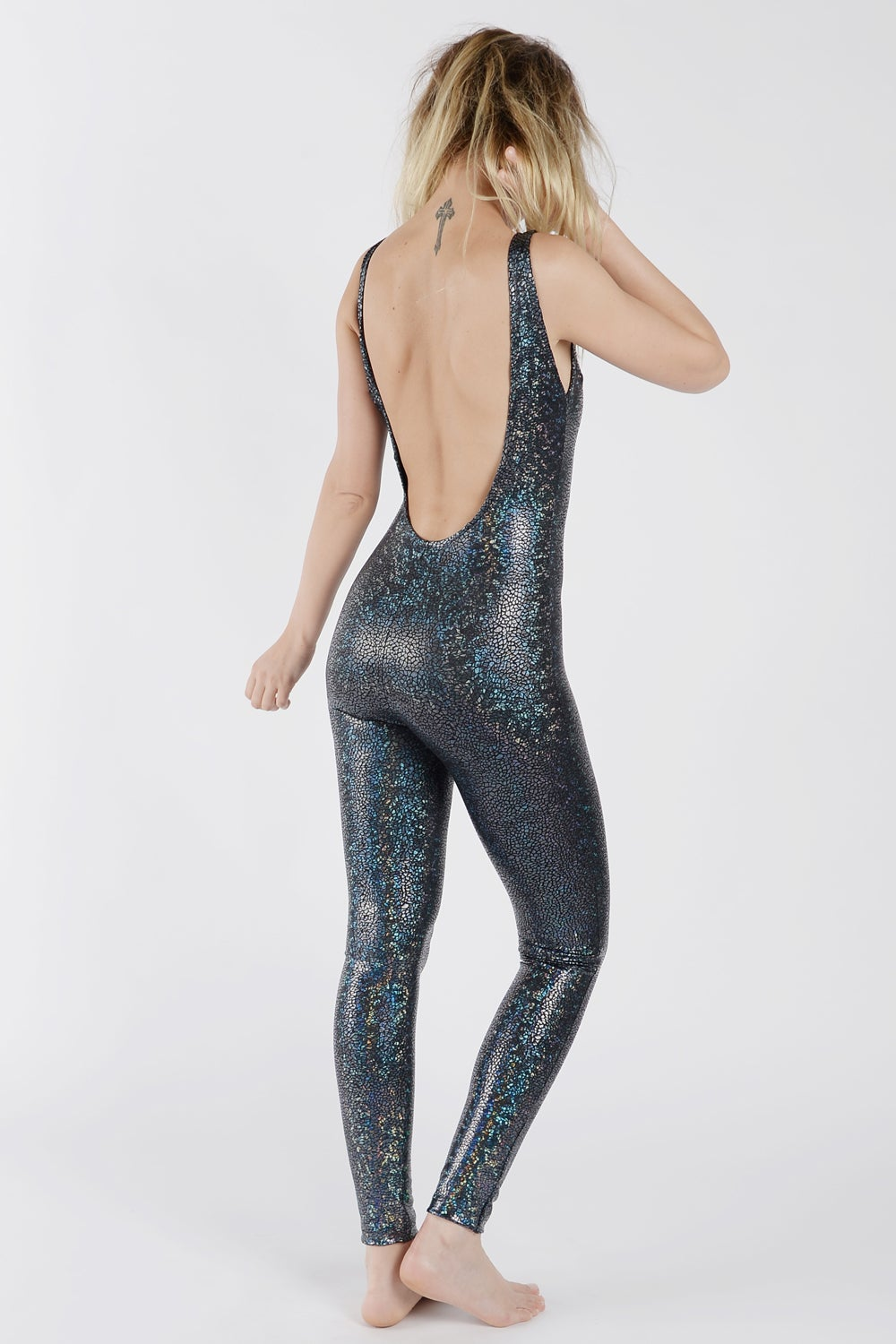 Image of Black Disco Mermaid Catsuit