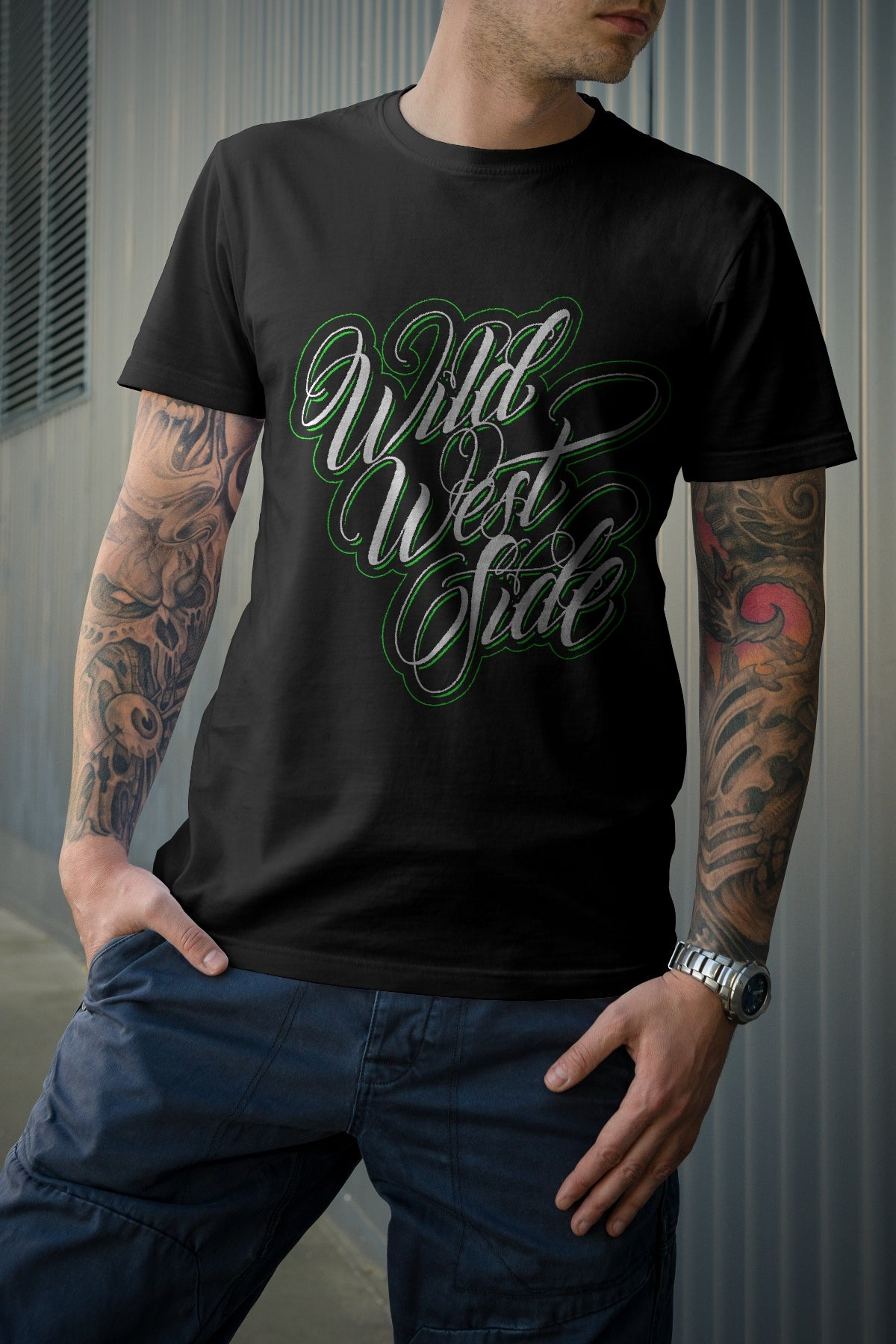 Image of Mens IGNITE Script T-Shirt - Green